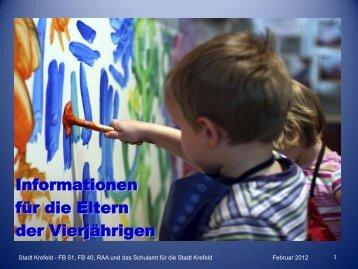 Kindertageseinrichtung - Schulamt für die Stadt Krefeld