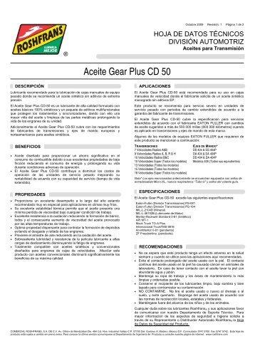 HDT GEAR PLUS CD 50 R1 - Roshfrans