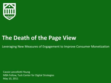 The Death of the Page View - Center for Digital Strategies