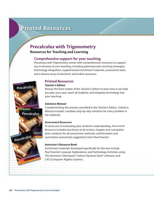Printed Resources - Online Textbook