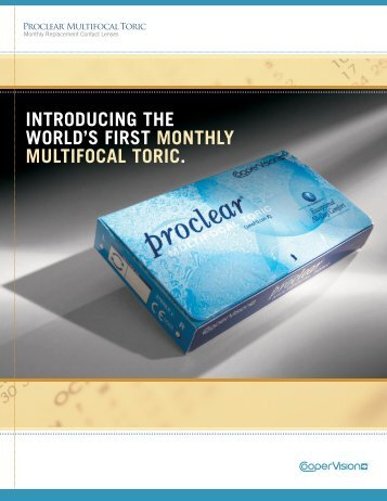 proclear multifocal toric contact lenses fitting guide