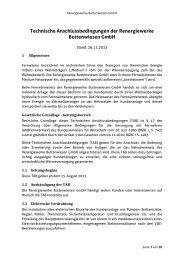 Technische Anschlussbedingungen der Renergiewerke ...
