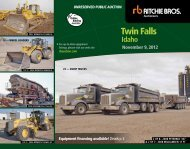twin Falls - Ritchie Bros. Auctioneers
