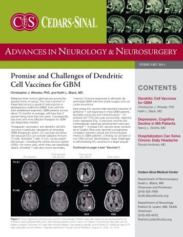 Promise and Challenges of Dendritic Cell Vaccines ... - Cedars-Sinai
