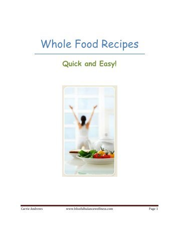 Healthy Recipes eBook - Integrative Nutrition Health Coach Websites