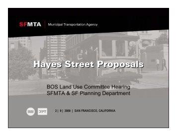 Hayes Street Proposals - Streetsblog San Francisco