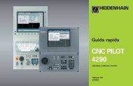 Guida rapida CNC PILOT 4290 - heidenhain