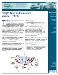 FAF3 - Center for Transportation Analysis - Oak Ridge National ...