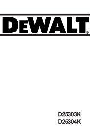 D25303K D25304K - Service - DeWALT