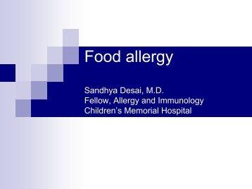 Food Allergy - September 2005 - Department of Pediatrics