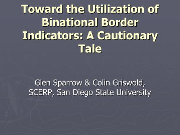 Toward the Utilization of Binational Border Indicators: A Cautionary ...