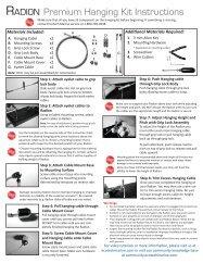 Radion Premium Hanging Kit Instructions - EcoTech Marine