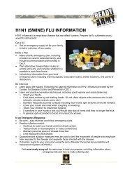 H1N1 (SWINE) FLU INFORMATION - Fort Sam Houston