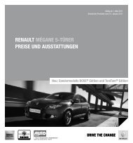 PReise und ausstattungen - Renault Preislisten