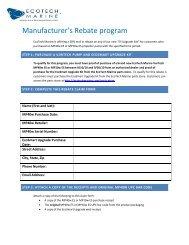 Manufacturer's Rebate program - EcoTech Marine