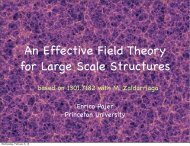 An Effective Field Theory for Large Scale Structures - Berkeley ...