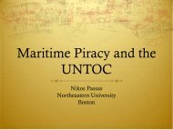 Maritime Piracy and UNTOC - Centre for International Law