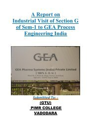 GEA Process Engineering India - Parul Group of Institutes