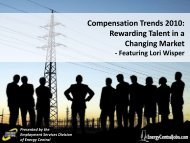 Compensation Trends 2010: Rewarding Talent in a Changing Market