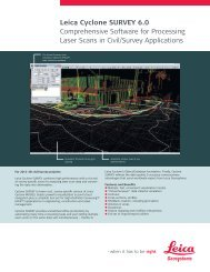 Leica Cyclone SURVEY 6.0 Comprehensive Software for ...