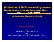 Oxidation of NaBr aerosol by ozone: Importance of a surface reaction.
