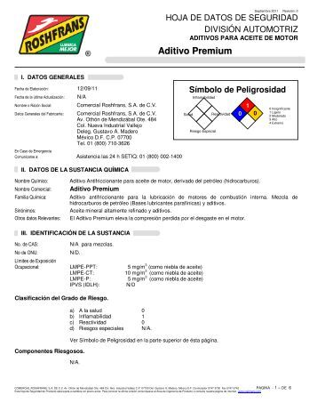 Aditivo Premium - Roshfrans