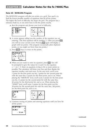 Calculator Notes for Casio fx-7400G Plus (PDF