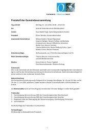 Protokoll der Gemeindeversammlung
