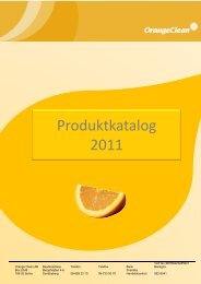Produktkatalog 2011 - Orange Clean AB