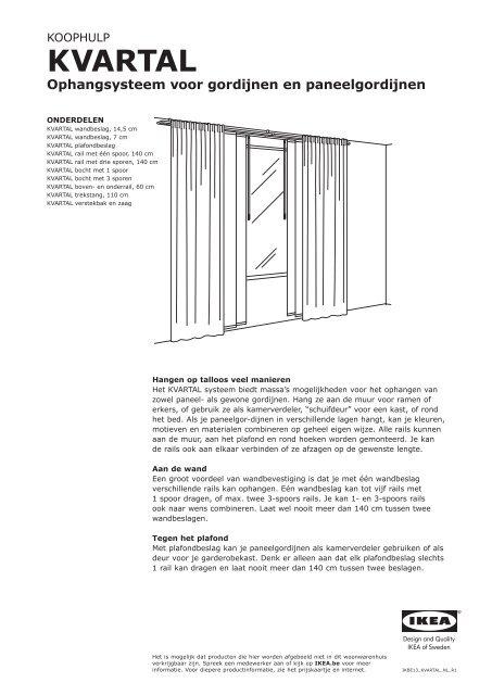 Kvartal Ophangsysteem Voor Gordijnen En Paneelgordijnen Ikea