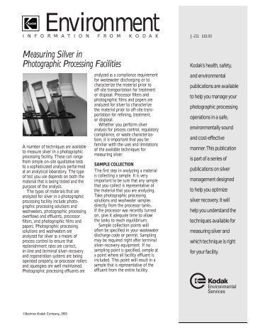 Measuring Silver in Photographic Processing Facilities - 125px