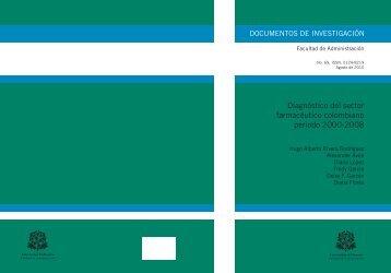 Diagnóstico del sector farmacéutico colombiano periodo 2000-2008