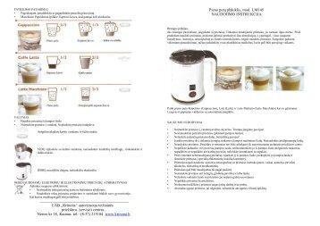 Lattemento LM145.pdf - UAB Krinona - prekių instrukcijos - Krinona