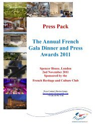 Press Pack ? The Annual French - Maison de la France