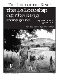 The Fellowship of the Ring - Progeny Press