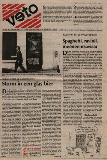Storm in een glas bier - archief van Veto