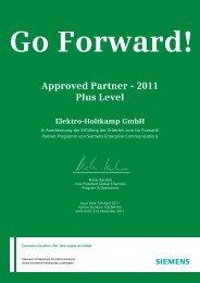 Approved Partner - 2011 Plus Level - Elektro-Holtkamp
