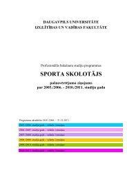 SPORTA SKOLOTĀJS - Daugavpils Universitāte