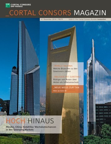 Cortal Consors Magazin - Ausgabe 4/2010 (Investor)