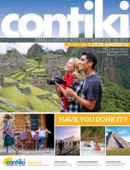 latin america - Contiki