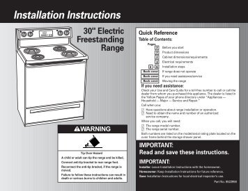 Installation Instructions - Whirlpool Corporation