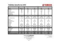 Preisliste WaveRunner 2013 - Yamaha Motor Europe