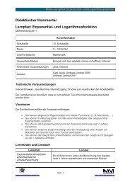 Didaktischer Kommentar Lernpfad: Exponential- und ...