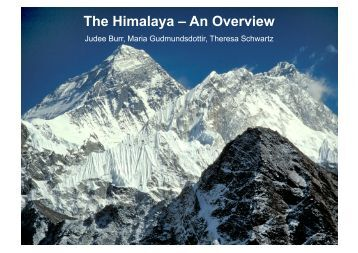 The Himalaya – An Overview