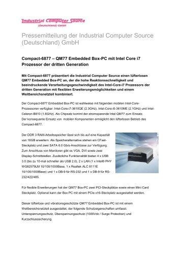 Compact-6877 - QM77 Embedded Box-PC mit Intel Core i7 Prozessor