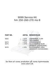 9099 Service Kit hm 250_260_270 - Mediq Danmark A/S