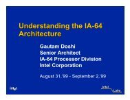 Understanding the IA-64 Architecture
