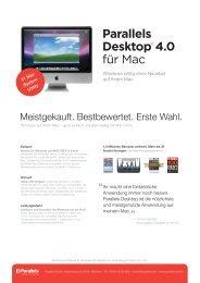 Parallels Desktop® 4.0 für Mac