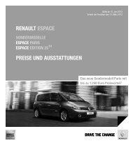 renault espace preise und ausstattungen - Renault Preislisten