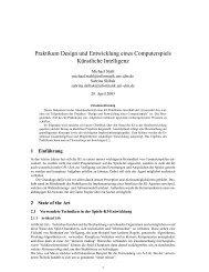 Praktikum Design und Entwicklung eines ... - Universität Ulm